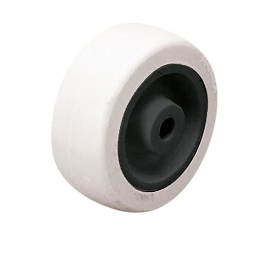Mini solid rubber wheel with plain bearing