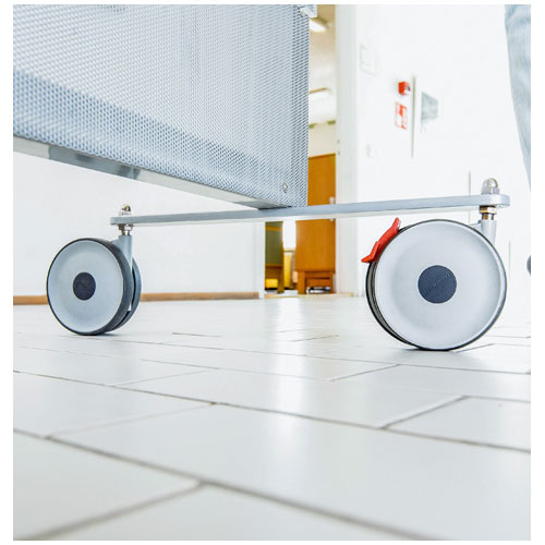 TWIN Swivel castors with stainless steel thread, wheels with ball bearing