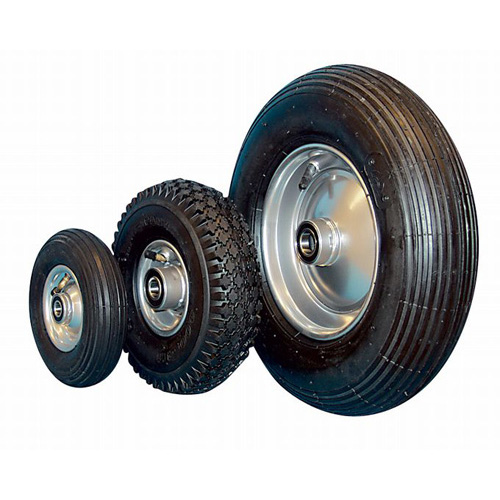 Pneumatic wheels with sheet steel rim and ball bearing - Ø 200 - 405 mm