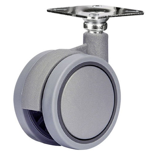 SWIFT swivel castors with plate and plain bearing