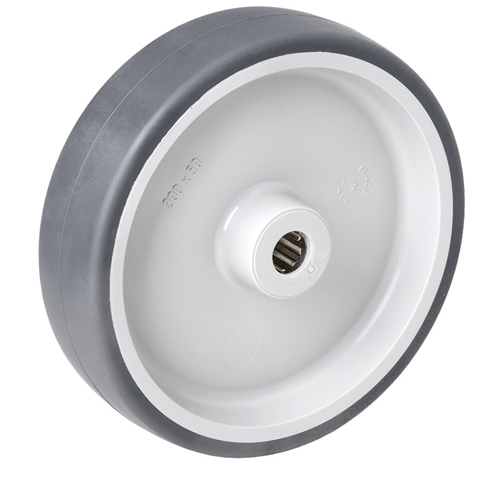 Thermoplastic elastomer wheels with roller bearing