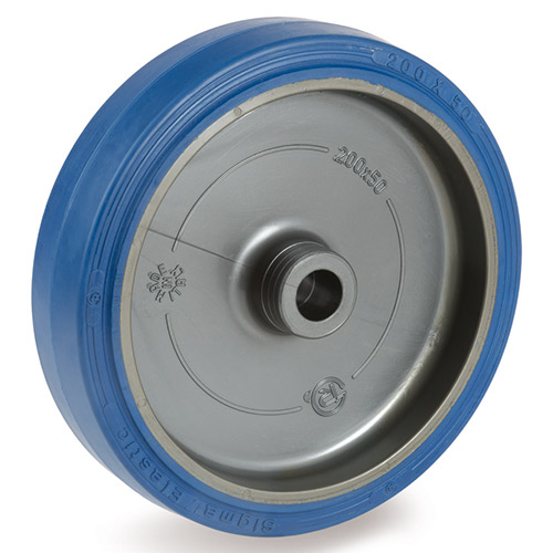 Blue-Wheel elastic solid rubber wheels with plain bearing
