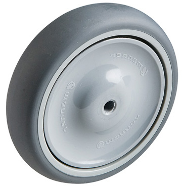 TPE rubber wheels HOSPITAL with ball bearing  -  Ø 75 - 150 mm
