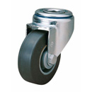 Laboratory swivel castors, bolt hole,highly elastic,solid rubber wheels + BB