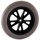 Narrow wheels made of soft-polyurethane with ball bearing - used for walkers