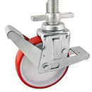 Scaffolding castors with threaded pin, with polyurethane wheels + plain bearing