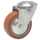 Swivel castors bolt hole, HEAT-Resistant silicone wheels, ball bearing  250°C