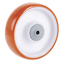 INOX Easy-Roll polyurethane wheel with ball bearing