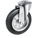 Swivel castors bolt hole with solid rubber wheels with roller bearing