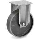 STRONG Fixed castors with cast iron solid wheels with ball bearing