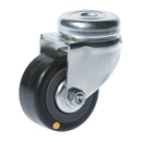Conductive swivel castors, bolt hole with rubber wheels
