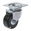 Conductive swivel castors with rubber wheels