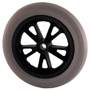 Narrow soft polyurethane wheel