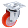 Swivel castor with polyurethane wheel Ø 30 mm