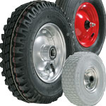 Pneumatic and puncture proof wheels