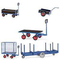 Turnable Trailers and long material trolleys